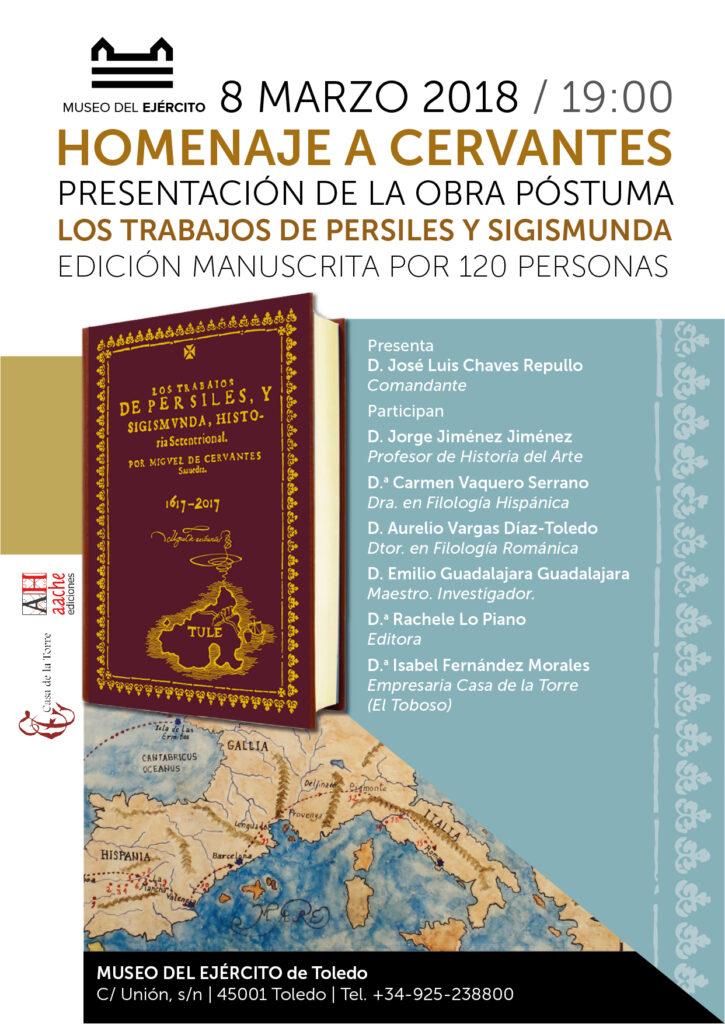 Presentacion edicion manuscrita Persiles y Sigismunda Museo del Ejercito de Toledo