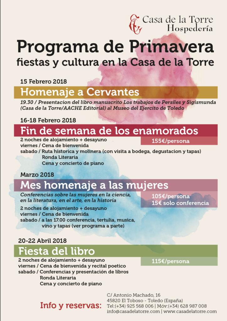 programa cultural de primavera 2018