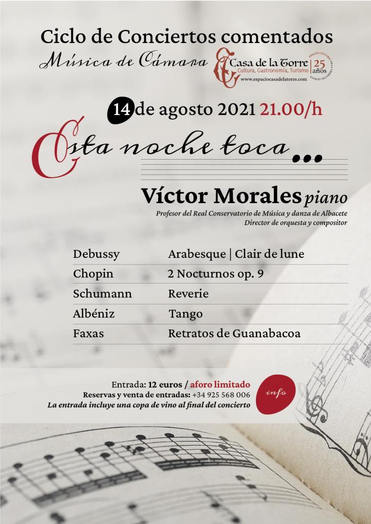 esta noche toca Victor Morales en la Casa de la Torre
